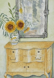 Sunflowers in Guest Room